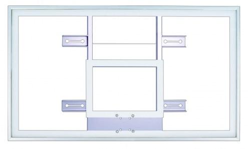"First Team 42"" x 72"" Framed Acrylic Basketball Backboard with H-Frame"
