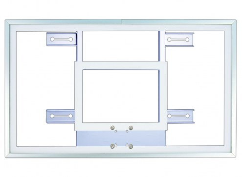 """First Team 36"""" x 60"""" Tempered Glass Basketball Backboard with H-Frame"""