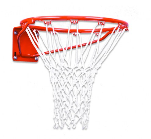 First Team Heavy Duty Single Fixed Basketball Rim - 5 x 5 and 4 x 5 Mount