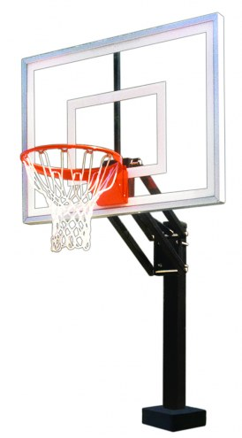 First Team HYDROCHAMP II Adjustable Pool Side Basketball Hoop