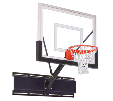 First Team Uni-Sport II Fixed Height Wall Mount Basketball Hoop