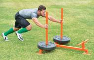 "Fisher 45"" x 48"" Football Push Pull Sled"