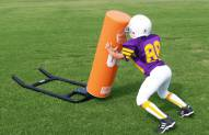 Fisher Athletic 1-Man Youth Football Sled with Round Pad