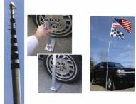 """Ultimate Tailgater's Package - Includes 17' 2"""" Telescoping Flag Pole and Tire Mount"""