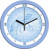 Florida A&M Rattlers Baby Blue Wall Clock