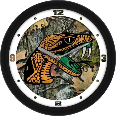 Florida A&M Rattlers Camo Wall Clock
