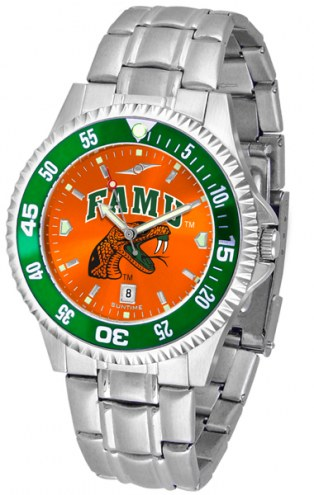 Florida A&M Rattlers Competitor Steel AnoChrome Color Bezel Men's Watch