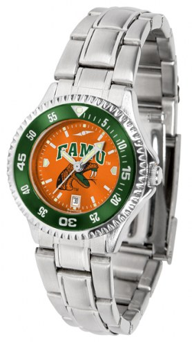 Florida A&M Rattlers Competitor Steel AnoChrome Women's Watch - Color Bezel