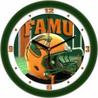 Florida A&M Rattlers Football Helmet Wall Clock