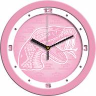 Florida A&M Rattlers Pink Wall Clock