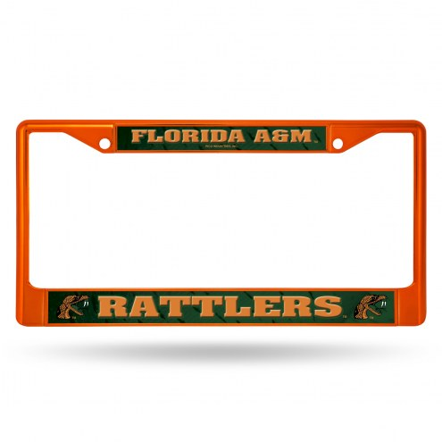 Florida A&M Rattlers Colored Chrome License Plate Frame