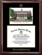 Florida A&M Rattlers Gold Embossed Diploma Frame with Campus Images Lithograph