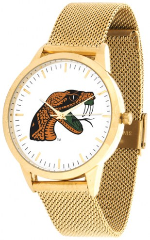 Florida A&M Rattlers Gold Mesh Statement Watch