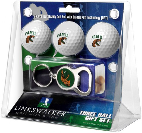 Florida A&M Rattlers Golf Ball Gift Pack with Key Chain