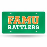 Florida A&M Rattlers Green Laser Cut License Plate