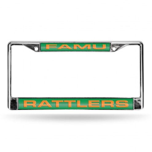 Florida A&M Rattlers Laser Chrome License Plate Frame