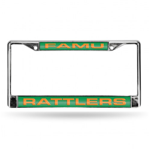 Florida A&M Rattlers Laser Chrome License Plate Frame