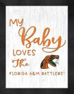 Florida A&M Rattlers My Baby Loves Framed Print