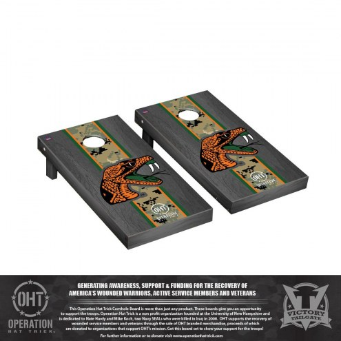 Florida A&M Rattlers Operation Hat Trick Stained Cornhole Game Set