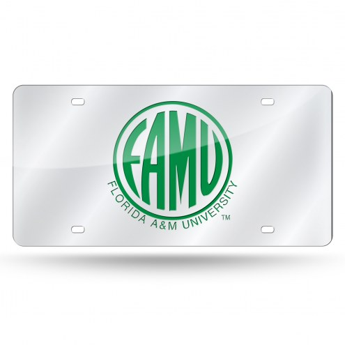 Florida A&M Rattlers Silver Laser Cut License Plate