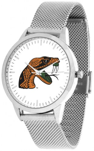 Florida A&M Rattlers Silver Mesh Statement Watch