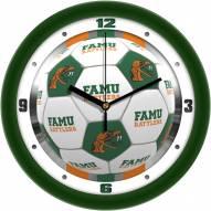 Florida A&M Rattlers Soccer Wall Clock