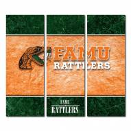 Florida A&M Rattlers Triptych Double Border Canvas Wall Art