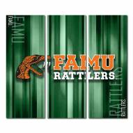Florida A&M Rattlers Triptych Rush Canvas Wall Art