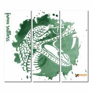 Florida A&M Rattlers Triptych Watercolor Canvas Wall Art