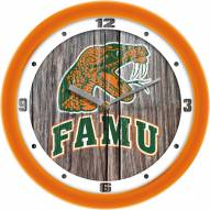 Florida A&M Rattlers Weathered Wood Wall Clock
