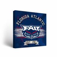 Florida Atlantic Owls Banner Canvas Wall Art