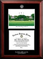 Florida Atlantic Owls Gold Embossed Diploma Frame with Campus Images Lithograph