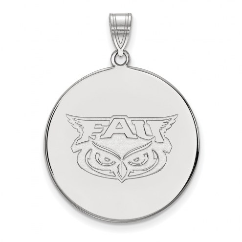 Florida Atlantic Owls Sterling Silver Extra Large Disc Pendant