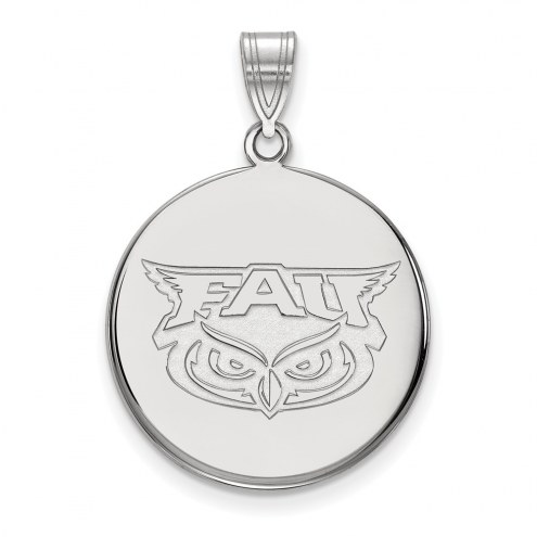 Florida Atlantic Owls Sterling Silver Large Disc Pendant