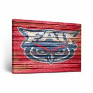 Florida Atlantic Owls Weathered Canvas Wall Art