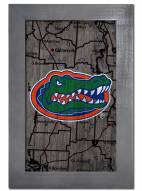 "Florida Gators 11"" x 19"" City Map Framed Sign"