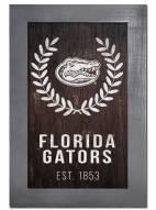 """Florida Gators 11"""" x 19"""" Laurel Wreath Framed Sign"""