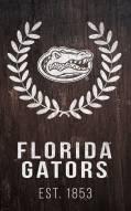 """Florida Gators 11"""" x 19"""" Laurel Wreath Sign"""