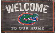 """Florida Gators 11"""" x 19"""" Welcome to Our Home Sign"""
