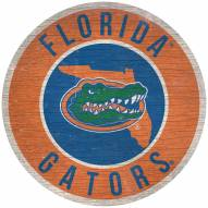 "Florida Gators 12"" Circle with State Sign"