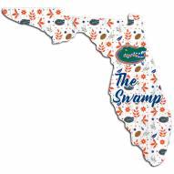 """Florida Gators 12"""" Floral State Sign"""