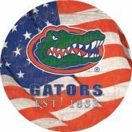 "Florida Gators 12"" Team Color Flag Circle Sign"