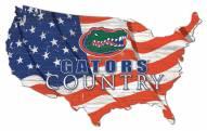 "Florida Gators 15"" USA Flag Cutout Sign"