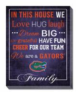 """Florida Gators 16"""" x 20"""" In This House Canvas Print"""