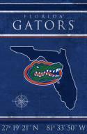 "Florida Gators 17"" x 26"" Coordinates Sign"