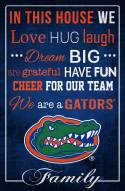 """Florida Gators 17"""" x 26"""" In This House Sign"""