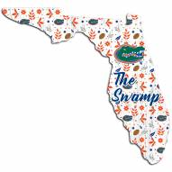 """Florida Gators 24"""" Floral State Sign"""
