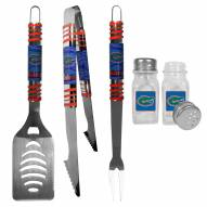 Florida Gators 3 Piece Tailgater BBQ Set and Salt and Pepper Shakers