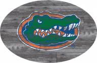 "Florida Gators 46"" Distressed Wood Oval Sign"