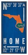 "Florida Gators 6"" x 12"" Coordinates Sign"